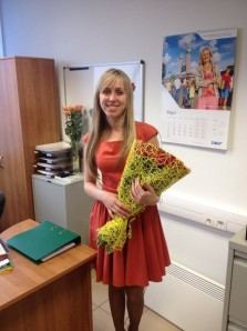 Surprise your Russian date with flowers delivered to her work