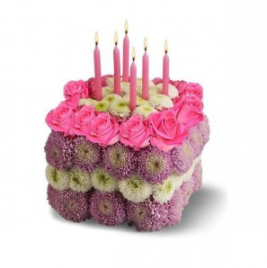 Order flower cake to Russia, Ukraine and Belarus