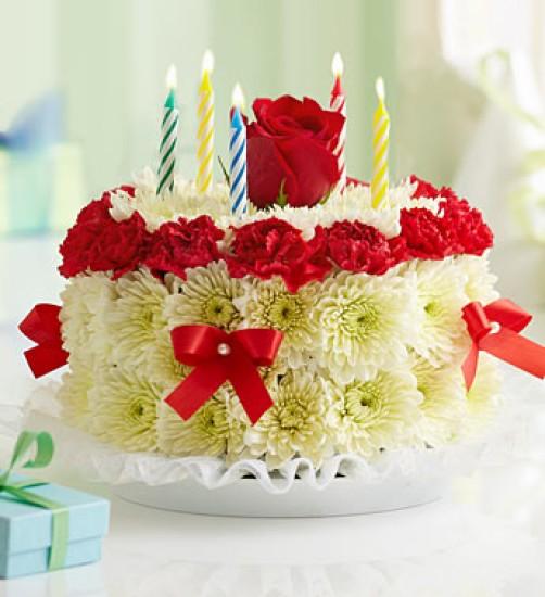 Композиция из цветов на день рождения