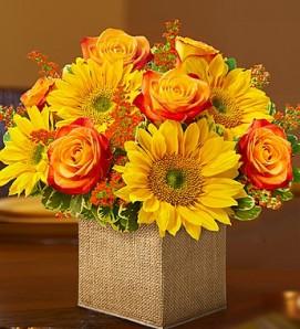 Цветочная композиция на день благодарения