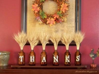 Украшения дома ко дню Благодарения