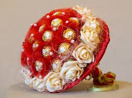 Candy bouquet ordered to Russia
