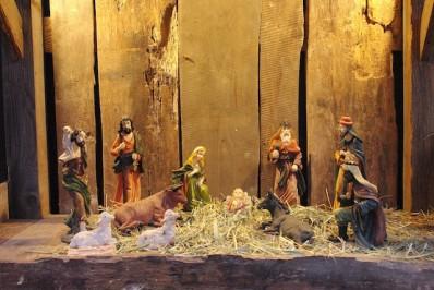 Сцена рождения Христа в качестве декорации