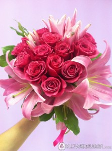 Beautiful pink bouquet delivered to Russia