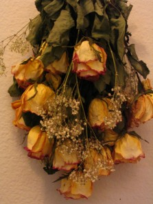 Air dried bouquet of flowers
