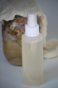 Homemade rose-water-toner