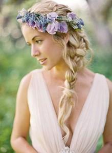 Украшения из цветов для волос