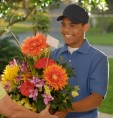 Доставка цветов курьером на дом