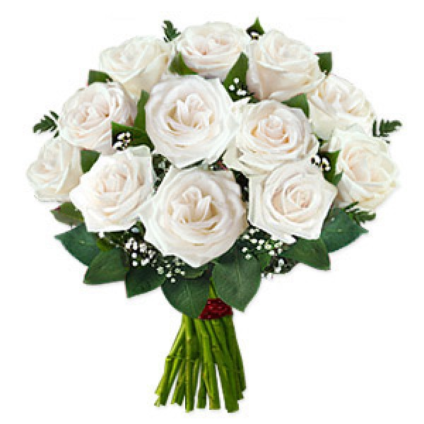 Send white roses to your loved one