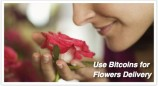 Send flowers with Bitcoins