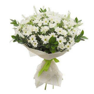 Bouquet of white mums