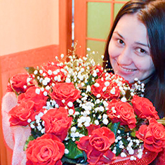 Picture of flowers delivery to Russia
