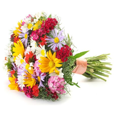 Bouquet of daisy mums and dianthus